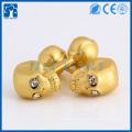 custom cufflink manufacturer gold skull cufflink