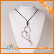 Leather Thin Chain Thin Pendant Necklace Heart Pendant Necklace