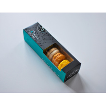 Custom Print 6 Macaron Packaging Box with Window