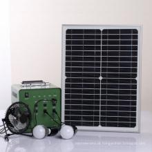 Sistema de energia solar portátil 18V / 30W F-3017 com boa qualidade