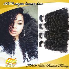 Barato virgem mongol kinky curly cabelo tecer 4a, Humano Kinky Curly Trança Tecer Cabelo