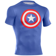 Short Sleeve Compression Shirt Tight Top Personalizado Tank Top