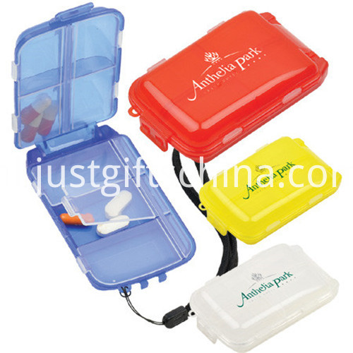 Promotional Rectangle Plastic Pill Box