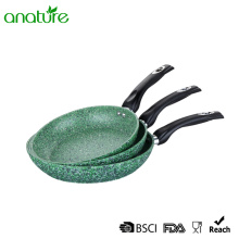 Forged Green Marble Nonstick Bakelite Handle Fry Pan