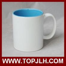 Caliente venta en blanco revestido interior colorida taza de 11oz