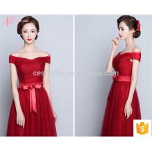 Nueva Colección coloridos Alibaba mejor precio de una línea de vestido de dama de honor