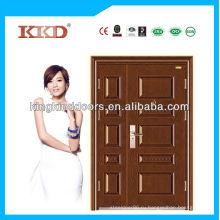 Поп арт дизайн промышленных двойной стальной двери KKD-523