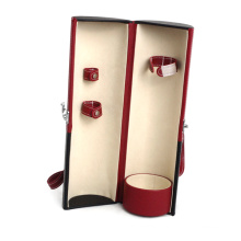 PU Wine Box Circular Leather Wine Box (HX-W2950)