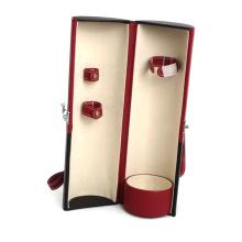 Коробка вина PU круговой кожаный Коробка вина (НХ-W2950)