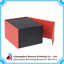 High quality black magnetic closure gift box with your own logo