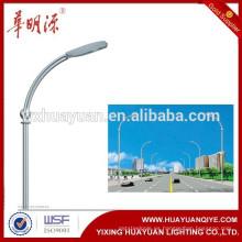 6m, 12m de acero galvanizado poste de iluminación pública