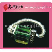 Guangzhou Dark Emerald Crystal bijoux perlés amoureux anneaux doigt