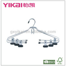 Chrome Plated Metal Hangers with clips with platic coated