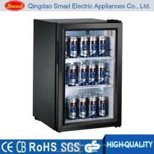 SC68 glass door countertop beer cooler fridge with display