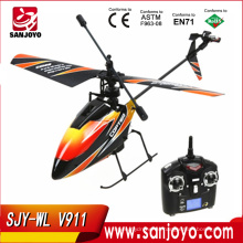 2.4G 4CH sola cuchilla wl v911 helicóptero Gyro RC MINI exterior r / c helicóptero con LCD y 2 baterías v911 helicóptero