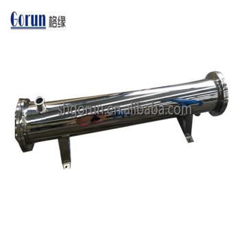 Réchauffeur d'eau en acier inoxydable sanitaire et échangeur de chaleur à tubes