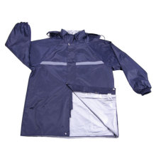 Polyster-pvc with flective Police Safety Rain Wear