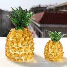 Elegante Crystal Glass Pineapple Craft para regalo