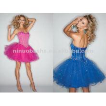 NY-2362 Vestido de quinceanera curto de organza atraente
