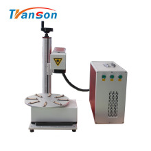 Máquina rotativa de marcado láser de fibra con bolígrafo para mesa de trabajo