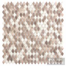 Azulejo de mosaico de vidro para impressão em tecido de diamante pequeno bege