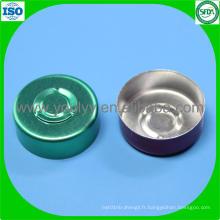 Capuchon en aluminium de couleur verte de 20 mm