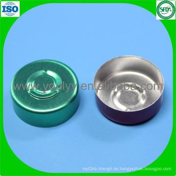 20mm grüne Farbe Aluminiumkappe
