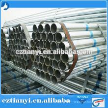 Tuyau galvanisé à chaud pour pipeline fluide