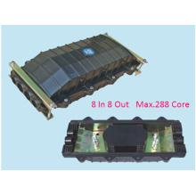 Horizontal 8 Portas 288 Cores Fibra Óptica Splice Encerramento