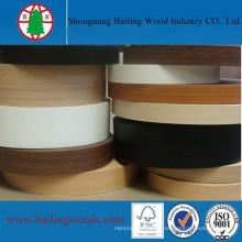 Bande décorative en bois de couleur de grain de PVC