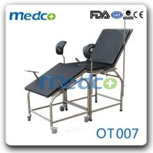Стол для гинекологии больничной стойки из нержавеющей стали OT007