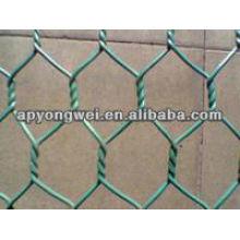 Malha de arame de ferro hexagonal em PVC