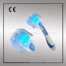 Blue Photon Electric Derma rodillo de la piel del rodillo para el cuidado de la belleza mejor derma rodillo