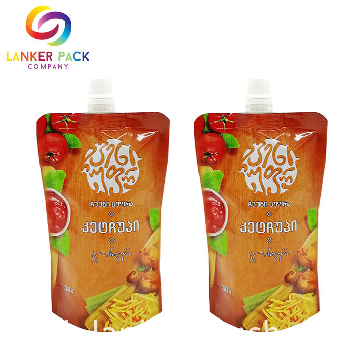 Fda Appreved Resealable Laminated Sauce Pouch
