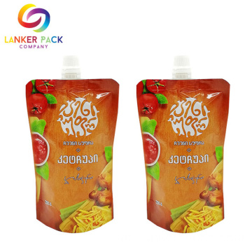 High Barrier Stand Up Spout Pouch Sauce Condiment