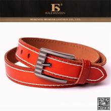 Venta al por mayor nuevo diseño más populares Mens azul cinturón de cuero