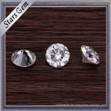 Diamante de Moissanite sintético blanco redondo brillante de la forma redonda 5m m para la joyería de oro de la manera