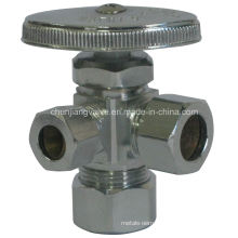 Compression Inlet & Outlet Water Valve with Handle (J39)