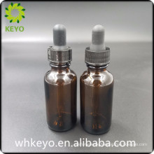 30ml amber glass bottle esstenial oil bottle round dropper glass bottle
