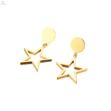 Pentacle Stainless Steel Drop Pendant Star Earrings