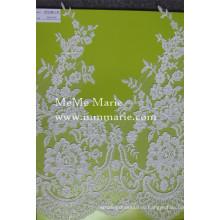 Белый Шантильи кружевной ткани кружева вышивка розовый ткань кружева CTC194-1-р