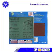 papier sablé / papier abrasif / feuille abrasive