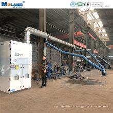 Collecteur de poussière de filtre à cartouche de machines central