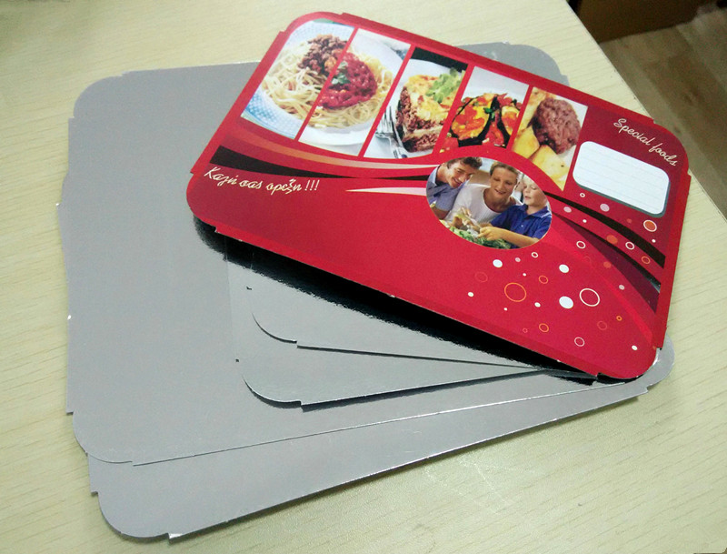 aluminum foil paperboard lid