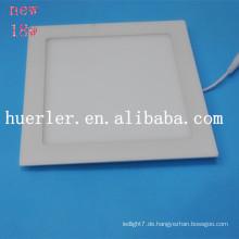 2014 neue quadratische / runde Aluminium & Plastik 4w / 6w / 9w / 12w / 15w / 18w 100-240v 18w führte Panel Lichtteile