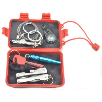 Survival Kit Emergency SOS Survive Paquete de herramientas para camping Senderismo Caza Biking Escalada Viajar y Emergencias