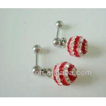 AB brinco de ouvido de cristal piercing jóias brincos de cartilagem