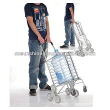 Aluminium multi-usages pliant voyage trolley panier bagages panier chariot à main avec roues
