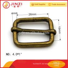 Maßgeschneiderte Metallzubehör, Metall Messing Schieber für Handtaschen Gurt