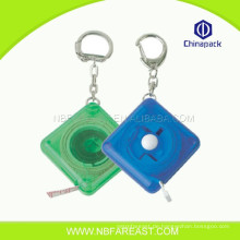 Kundenspezifische billige gute Qualität China niedlich geformte keychain Maßband